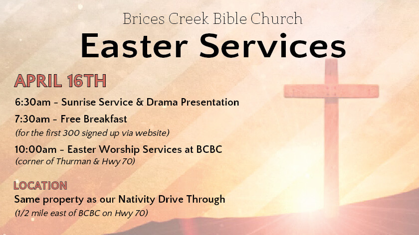 BCBC Easter Sunrise, Breakfast and Services