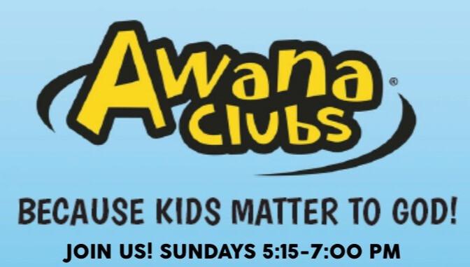 AWANA BEGINS SEPTEMBER 8th