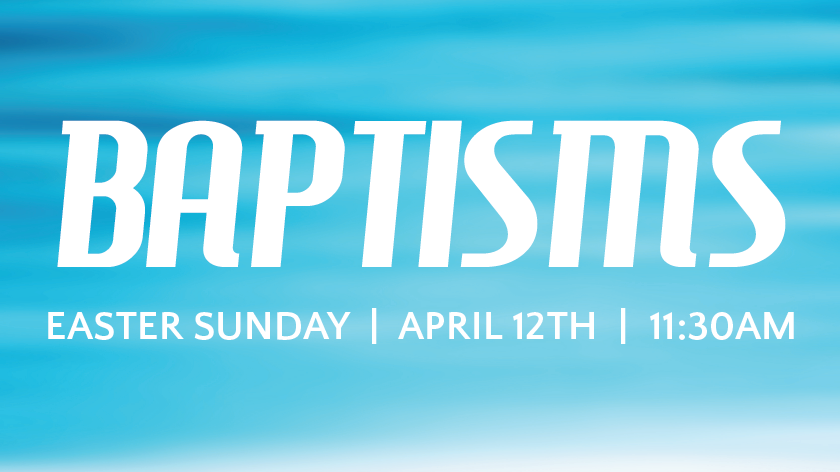 Baptisms on Easter
