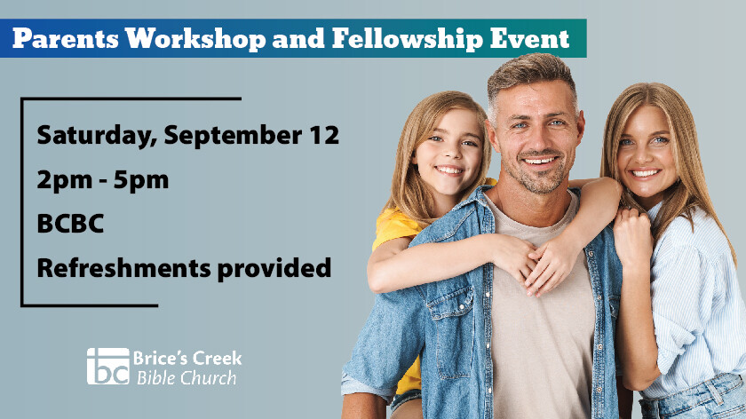 Parents Workshop and Fellowship Event